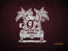 Detroit Zoo Run For The Animals Vinatge T Shirt Large