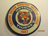 Detroit Tigers 1987 AL East Champs 3 1/2 Round Pin