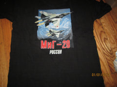 Russian Fighter Jet T Shirt Large