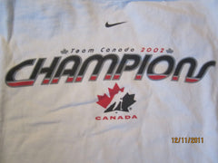 Team Canada Hockey 2002 Gold Medal Champions T shirt XL By Nike
