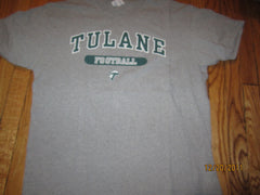 Tulane Football Grey Practice T Shirt XL Champion