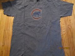 Chicago Cubs Blue Distressed Logo T Shirt Large