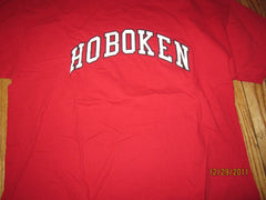Hoboken New Jersey Red Vintage T Shirt Large Russell 50% 50%