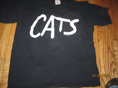 Cats Large Logo Green Eyes T Shirt XL Theater Play