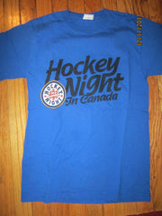 Hockey Night In Canada CBC Blue T Shirt Small