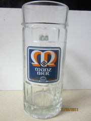 Munz Bier Tall German 0.5ltr Glass Beer Stein