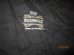 Bushmills Irish Whiskey Kiss Me Black T Shirt XL
