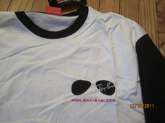 Ray Ban Sunglasses Logo Raglan T Shirt XL New With Tag