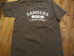 Sanders A Detroit Original Brown T Shirt Large Hot Fudge Bumpy Cake