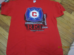 Chicago Fire 2006 Season Schedule Red T Shirt Large MLS