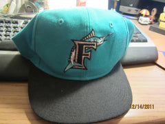 Florida Marlins Two Tone Old Logo Snapback Hat