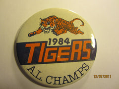 "Detroit Tigers 1984 AL Champs 3"" Round Pin"