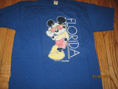 Mickey Mouse Florida Vintage 80's T Shirt XL Disney Velva Sheen