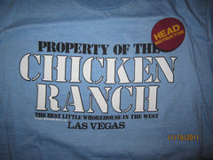 Property Of Chicken Ranch Las Vegas 80's Vintage T shirt Large