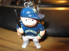 Milwaukee Brewers Blue Jersey L'il Brat Keychain