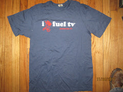 I Love FUEL TV Blue T Shirt Medium