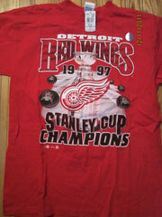 Detroit Red Wings 1997 Stanley Cup Champs T Shirt Large New W/Tag