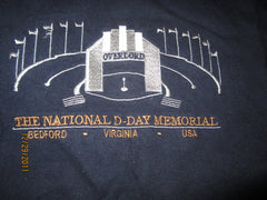 National D-Day Memorial Embroidered Logo T Shirt XL Bedford VA