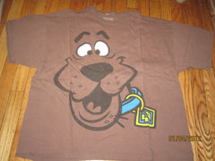 Scooby Doo Huge Logo Brown T Shirt XXL