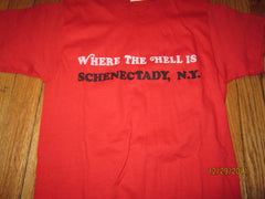 Schnechtady New York Where The Hell Is? Vintage T Shirt Small 80's