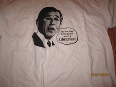 George W Bush Best Thing I Ever Did Was Marry A Librarian Shirt XL Capstone Press