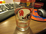 "Tampa Bay Buccaneers Old Helmet Logo 6 1/4"" Tall Glass"