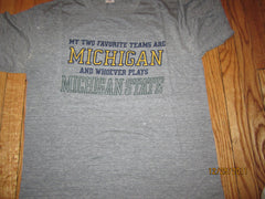 Michigan Wolverines Anti MSU Vintage T Shirt Large