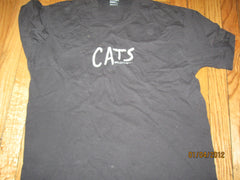 Cats Vintage 1981 T Shirt Large Screen Stars 50% 50% Play Theater
