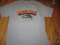 Baltimore Orioles Swinging Bird Logo Grey T shirt Medium Nike
