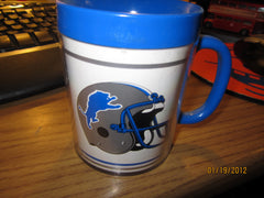 Detroit Lions Vintage Plastic Coffee Mug By Thermos