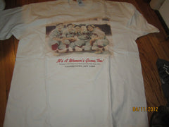 "Baseball Hall Of Fame ""It's A Woman's Game, Too"" Exhibit T Shirt XXL"