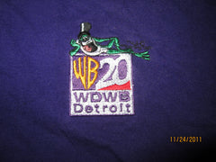 WB TV20 Detroit Embroidered Logo Purple T Shirt XL