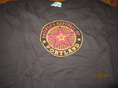 Portland Oregon People's Republic Of Logo Brown T Shirt XL
