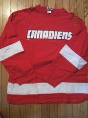 Montreal Canadiens Long Sleeve Jersey Syle T Shirt XL