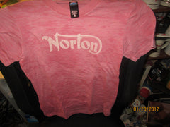 Norton Motorcycles Logo Vintage Fit T Shirt Ladies Small