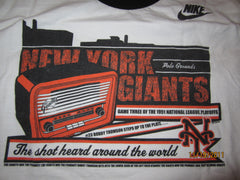New York Giants Short Heard Around The World T Shirt Large Nike Baseball