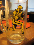 Grey Cup 1972 Hamilton Souvenir Glass Beer Mug CFL Canadian Football