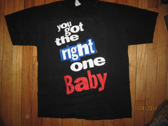 Diet Pepsi You Got The Right One Baby Vintage T Shirt Large Ray Charles