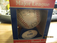 Chicago Cubs 1984 Souvenir Facsimile Signed Baseball + Case New In Box