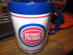 Detroit Pistons Old Logo Vintage Plastic Thermos Coffee Mug