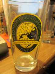 Commonwealth Brewing Co. Boston Older Pint Glass RARE!