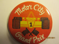 "Detroit Grand Prix Logo 3 "" Round Pin #8"