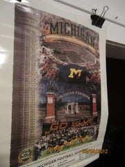Michigan Football 2001 Schedule Poster