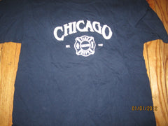 Chicago Fire Department Logo Navy T Shirt Large