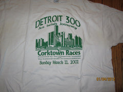 Detroit 300 Irish Journey Corktown Race 2001 T Shirt XL