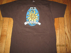 Bell's Oberon Logo Brown T Shirt Ladies Medium Brewery Michigan Beer