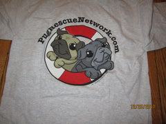 Pug Rescue Network Supporter T Shirt Medium Dog