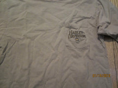 Harley Davidson Stuart Florida Embroidered Logo Pocket T Shirt Medium