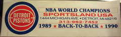 Detroit Pistons 1990 Back To Back NBA Champs Bumper Sticker
