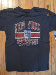 New York Rangers Vintage Fit Logo Blue T Shirt Kids Medium NWT